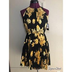NWT Gold foil dress